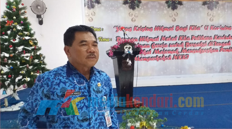 Ketua panitia natal gabungan yang juga Kepala BPKAD Konut, Marthen Minggu.