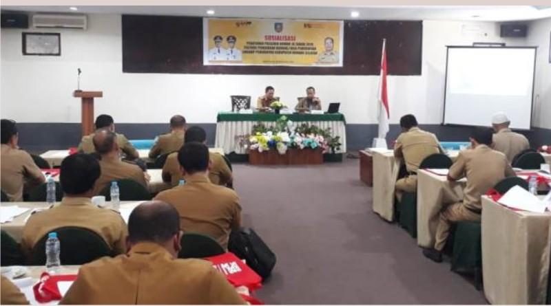 Suasana kegiatan Sosialisai perpres No 16 Tahun 2018 di hotel Kubra kendari