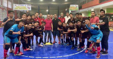 Tim Futsal Busel berhasil lolos final Porprov XIII Kolaka 2018. (Foto : Rahmat R)