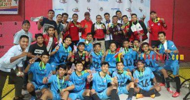 Tim Futsa Busel peraih medali emas cabor Futsal di Porprov XIII Kolaka. (Foto : Rahmat R.)