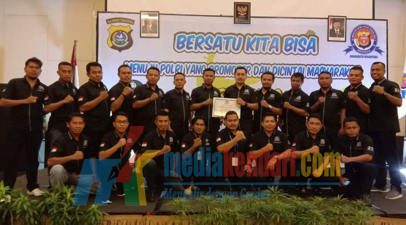 Wakil Ketua Umum Bharaduta Nusantara ( Bripka Nur Hidayat, SE ) bersama anggota Bharaduta Sulawesi Tenggara(Sultra).