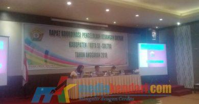 BPKAD Sultra menggelar Rakor Pengelolaan Keuangan Daerah Se-Kabupaten/Kota Tahun 2018, di Wonua Monapa hotel resort, Senin (17/12/2018)