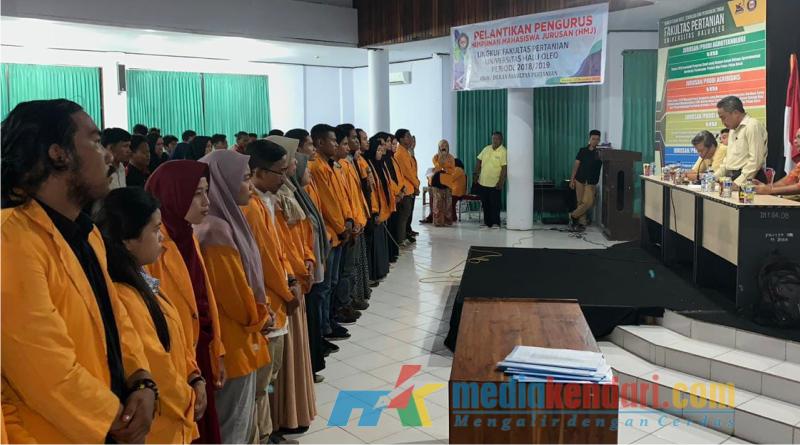 Pengurus baru Himpunan Mahasiswa Jurusan (HMJ) lingkup Fakultas Pertanian (Faperta) Univeristas Halu Oleo (UHO) Kendari, Sulawesi Tenggara (Sultra) periode 2018-2019 resmi dilantik oleh Dekan Faperta UHO, Prof.Dr.Ir.M.Taufaila
