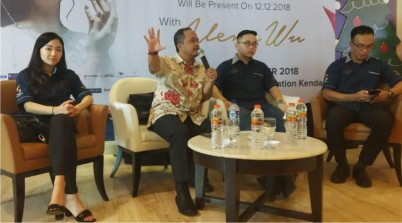Edwin tanta Chief Financial Officer saat mengelar konferensi pers Rabu (12/12/2018).