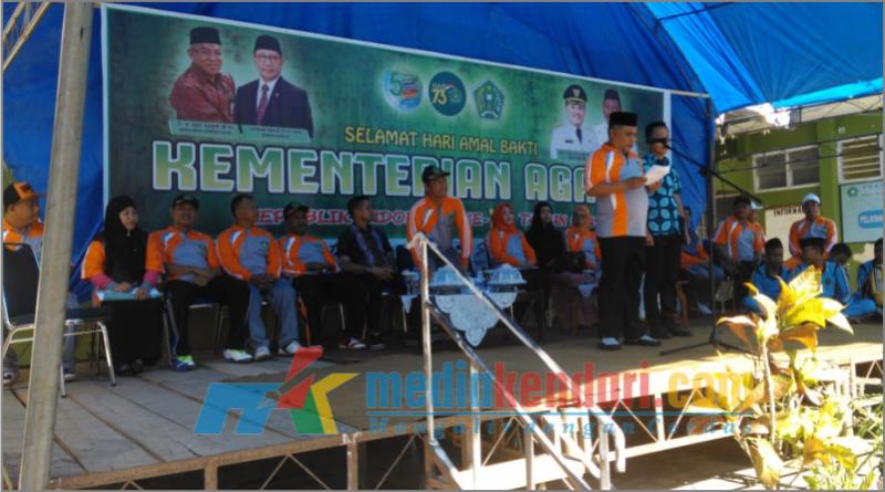 Bupati Konawe, Kery Saiful Konggoasa saat menyampaikan sambutan.