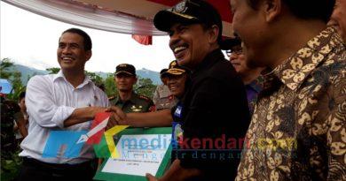 kunjungan kerja Menteri pertanian Republik Indonesia (RI) Andi Amran Sulaiman di Kolut (27/12/2019)