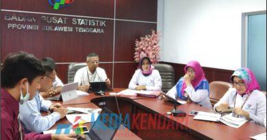 Kepala Badan Pusat Statistik (BPS) Provinsi Sulawesi Tenggara (Sultra), Mohammad Edy Mahmud saat memaparkan data ekspor Sultra pada November 2018