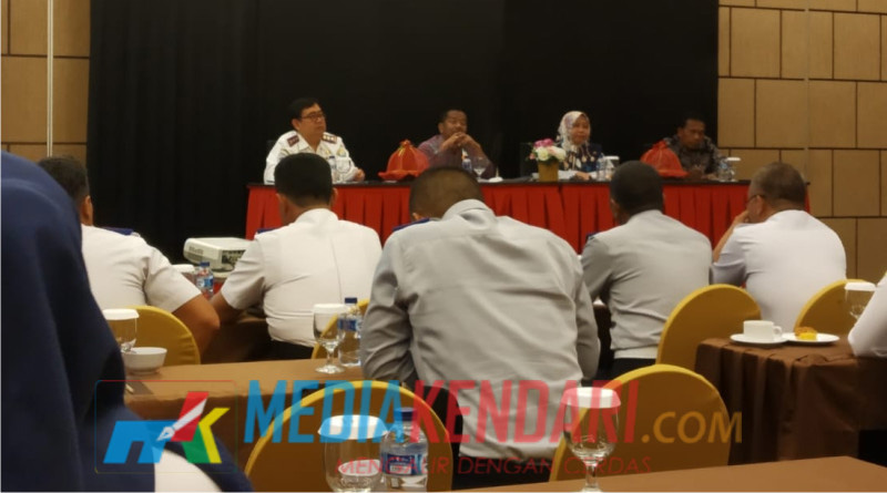 Rakor Teknis Dishub Sultra 2019 Plaza Inn Hotel Kendari, Kamis (10/01/2019) (Foto : Rahmat R)