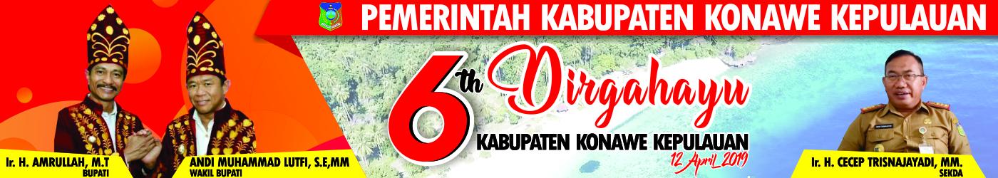 Iklan HUT Konawe Kepulauan ke-6