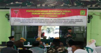 Pererat Silaturahmi Kodim 1417 Adakan Komsos dengan Veteran dan Insan Pers