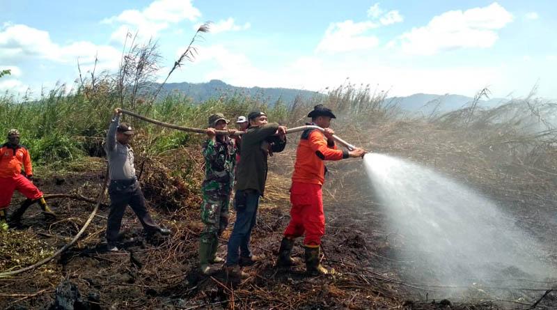 Polda Sultra : Kebakaran Lahan Gambut di Koltim Terindikasi Disengaja