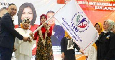 Apriliani Puspitawati Didapuk jadi Ketua Selebriti Anti Narkoba Sultra
