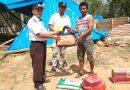 BPBD Salurkan Bantuan Kepada Korban Angin Kencang di Muna Barat