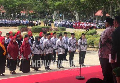 Upacara Hari Guru Nasional ke-74, Gubernur Sultra Ajak Guru Lakukan Perubahan