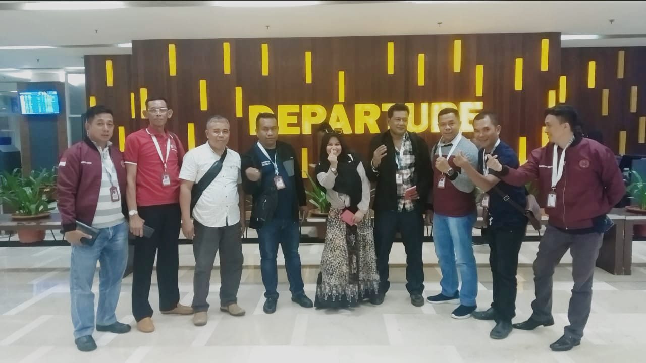 Mahasiswa Pascasarjana Unsultra yang akan berangkat ke Malaysia. Ist