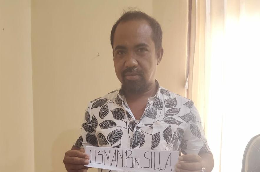 Usman Bin Daeng Silla saat diamankan polisi. Foto: Humas Polda Sultra for MEDIAKENDARI.com