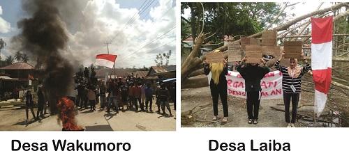 Demonstrasi di Muna