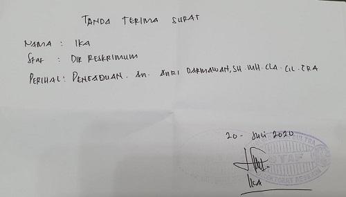 Pengaduan yang dilaporkan ke Direktorat Reserse Kriminal Umum Polda Sultra. Foto Ist