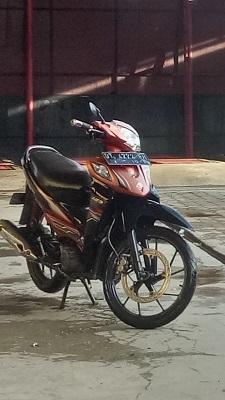 Sepeda Motor Milik Nardin yang hilang diparkiran Stadion Lababa Silondae