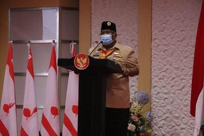 Ketua Majelis Pembimbing Daerah Gerakan Pramuka Sulawesi Tenggara (Sultra), H Ali Mazi, SH
