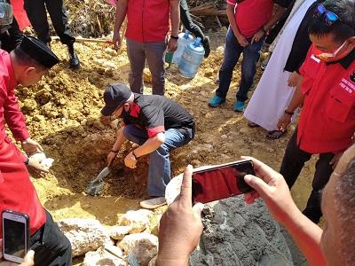 Peletakan Batu Pertama Gedung DPC PDIP Konkep