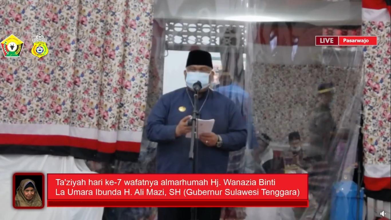 Tampak Gubernur Sultra H Ali Mazi SH dalam Sambutannya (Foto: Ist)
